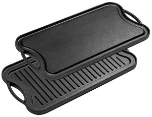 cast iron reversible grill pan