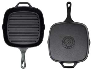 non stick cast iron grill pan