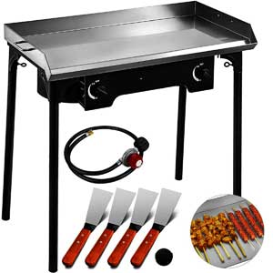 2 Burner Flat Top Griddle Grill