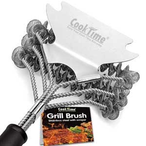 Cook Time Bristle Free bbq grill cleaning brush
