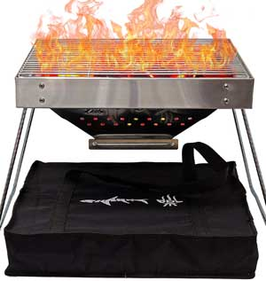 Portable Charcoal Grill for Camping