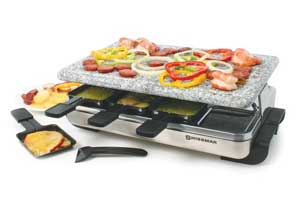 Stelvio Stainless Steel Raclette Party Grill