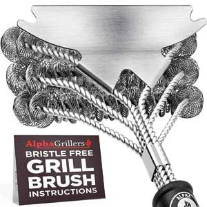 Alpha Grillers Grill Brush Bristle Free