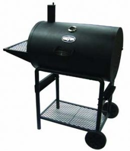 charcoal grill with cast iron grates