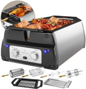 ChefWave Smokeless Indoor Electric Tabletop Grill