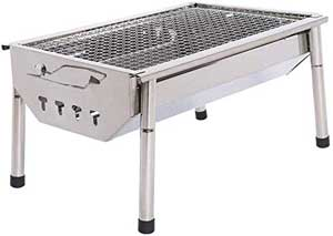 Stainless Steel Folding Tabletop Charcoal Grill