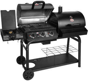 char griller gas and charcoal grill combo