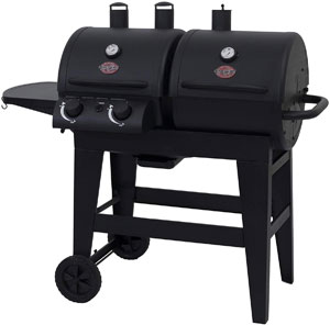 dual function gas and charcoal grill