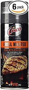 Highly efficient non-stick spray - Crisco Professional Grill Master No Stick Grill Spray 12oz Can (Pack of 6)