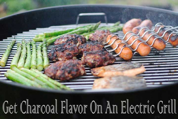 Get Charcoal Flavor On An Electric Grill