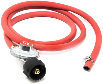 Gas One 2102 New Improved 6 ft Propane Regulator and Hose